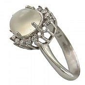 انگشتر نقره مون استون طرح محبوب زنانه