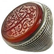انگشتر نقره عقیق حکاکی یا زینب کبری مردانه