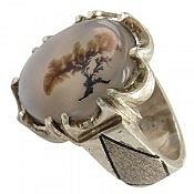 انگشتر نقره عقیق شجر خوش نقش مردانه