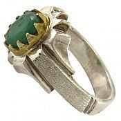 انگشتر نقره زمرد زامبیا شاهانه مردانه