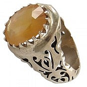 انگشتر نقره یاقوت آفریقایی سلطنتی مردانه دست ساز