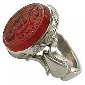 انگشتر نقره عقیق یمن حکاکی لبیک یا حسین مردانه
