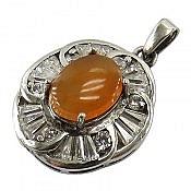 مدال نقره عقیق شرف الشمس