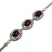 دستبند نقره عقیق مرغوب زنانه