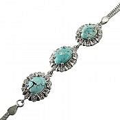 دستبند نقره فیروزه نیشابوری فاخر و ارزشمند زنانه