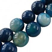 تسبیح عقیق 33 دانه آبی خوش رنگ