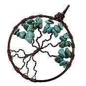 مدال مس فیروزه طرح درختچه