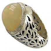 انگشتر نقره اپال اتیوپی ارزشمند مردانه دست ساز
