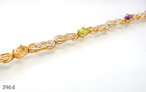 عکس دستبند نقره چندنگین سلطنتی زنانه