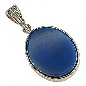 مدال نقره عقیق آبی