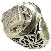 انگشتر نقره عقیق شجر خوش نقش مردانه دست ساز
