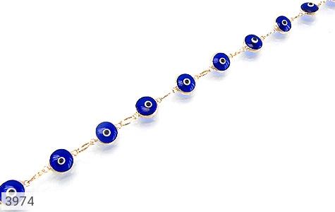 عکس دستبند نقره چشم زخم سایز 2 زنانه