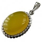 مدال نقره عقیق زردشرف الشمس