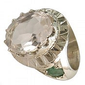 انگشتر نقره در نجف زمرد الماس تراش مردانه
