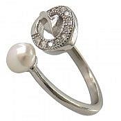انگشتر نقره مروارید جذاب زنانه