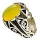 انگشتر نقره عقیق زرد شرف الشمس طرح بهرنگ مردانه