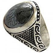 انگشتر نقره حدید حکاکی هفت جلاله مردانه دست ساز