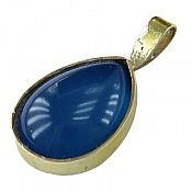 مدال نقره عقیق طرح اشکی دست ساز