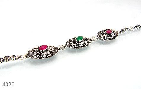 عکس دستبند نقره مارکازیت سنتی زنانه