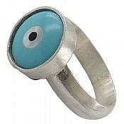 انگشتر نقره صدف زنانه دست ساز