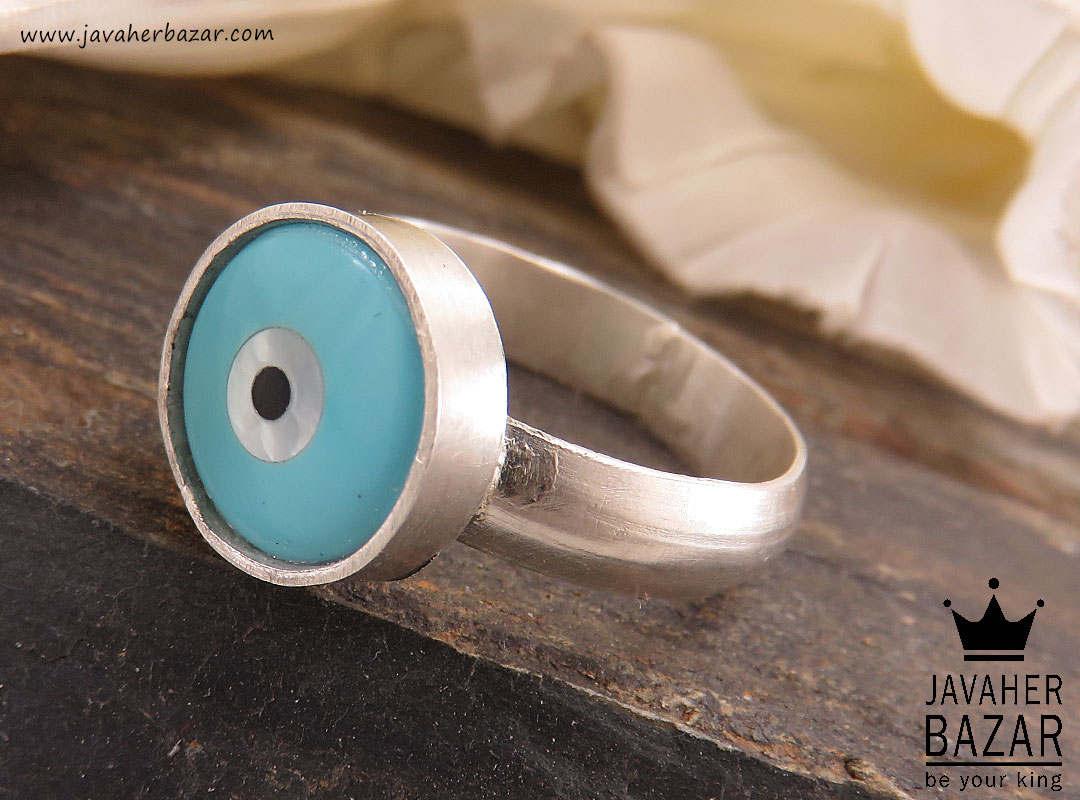 تصویر عکس خرید ، قیمت و خواص انگشتر صدف آبی زنانه اصل