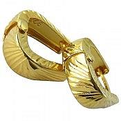 گوشواره نقره طلایی رنگ