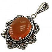 مدال نقره عقیق یمن طرح غزل