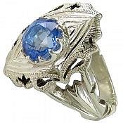 انگشتر نقره توپاز سوئیس اشرافی مردانه