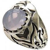 انگشتر نقره عقیق شاهانه مردانه دست ساز