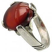 انگشتر نقره عقیق چهارچنگ مردانه