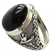 انگشتر نقره عقیق رکاب یا علی یا زهرا مردانه
