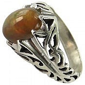 انگشتر نقره اپال طرح سلطنتی مردانه