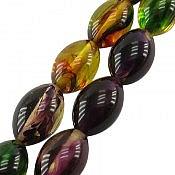 تسبیح 33 دانه کهربا پودری خوش رنگ