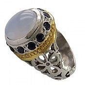 انگشتر نقره یاقوت عقیق یمن شاهانه مردانه