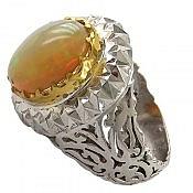 انگشتر نقره اپال فاخر مردانه دست ساز