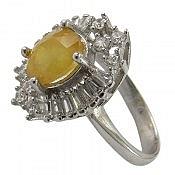 انگشتر نقره یاقوت زرد طرح ترنم زنانه