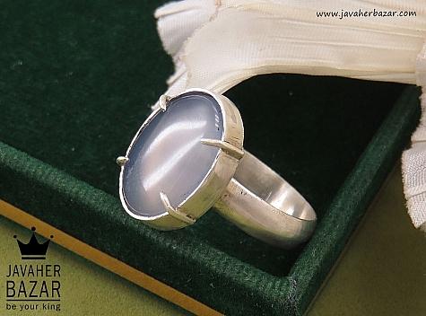انگشتر نقره عقیق درشت زنانه دست ساز