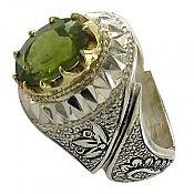 انگشتر نقره زبرجد شاهانه مردانه