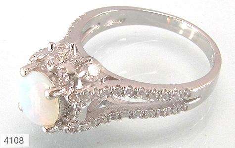 انگشتر نقره الماس نشان زنانه - 4108