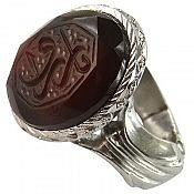 انگشتر نقره عقیق حکاکی یا رزاق مردانه