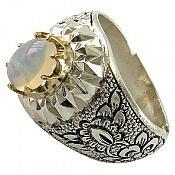 انگشتر نقره اپال شاهانه مردانه