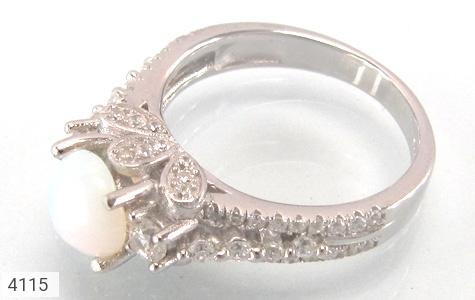 انگشتر نقره جواهری زنانه - 4115