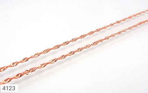 زنجیر نقره 50 سانتی پیچ 50 سانتی - 4123