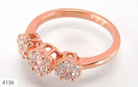 انگشتر نقره فلاور طرح الماس زنانه - 4136