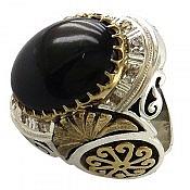 انگشتر نقره اپال و برلیان اصل لوکس مردانه دست ساز