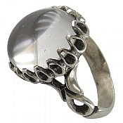 انگشتر نقره در نجف رکاب دور اشکی مردانه