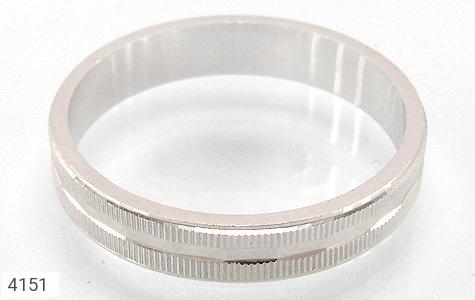حلقه ازدواج نقره آینه کاری - 4151