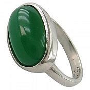 انگشتر نقره عقیق سبز طرح صفوی زنانه