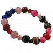 دستبند عقیق و جید خوش رنگ زنانه