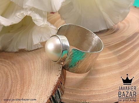 انگشتر نقره مروارید زنانه دست ساز